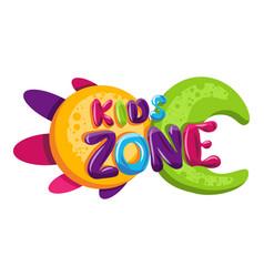 kids zone children playground game room or center vector image