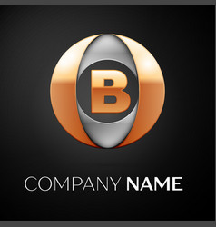 Letter b logo symbol in the colorful circle on vector