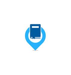 Locate book logo icon design vector