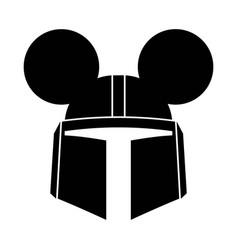 Mandalorian mickey mouse vector