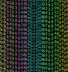 Matrix concept rainbow and black green background vector