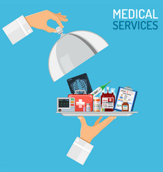 Medical services concept vector