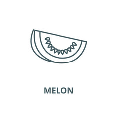 melon line icon linear concept outline vector image