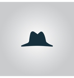 Mens hat icon vector image