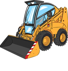 mini excavator a vector image