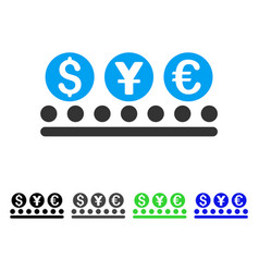 Money conveyor flat icon vector