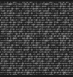 Monochrome binary code seamless pattern vector
