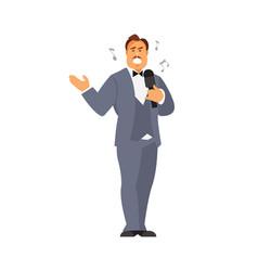 Opera singer vector