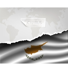 paper with hole and shadows CYPRUS flag vector image