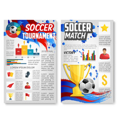 poster for football or soccer sport match vector image vector image