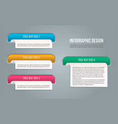 presentation template for banner design vector image