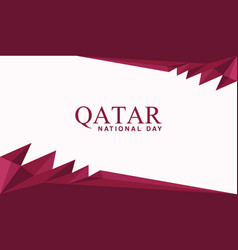 Qatar national day banner template vector