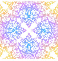 seamless pattern of gentle mandalas on white vector image