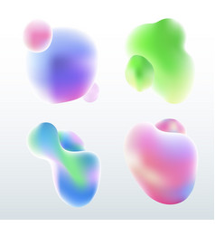 set elements fluid or liquid badges shape vector image