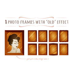 set of cartoon flat photo frames vector image