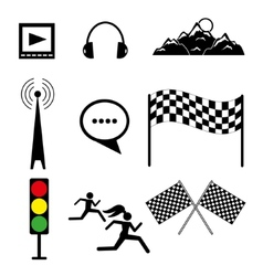 Set of templates on sports and rest vector image