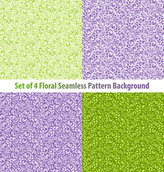 Set Textured Natural Seamless Patterns Backgrounds vector image