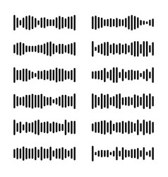 set voice messages icon with sound wave message vector image