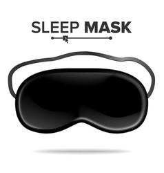 Sleep mask isolated of vector