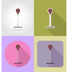 sport flat icons 24 vector image