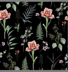 spring flowers flower vintage seamless pattern vector image