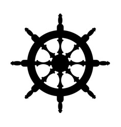 steering wheel silhouette isolated steering wheel vector image