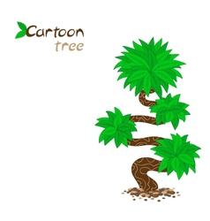 Stylized cartoon tree isolated on white vector