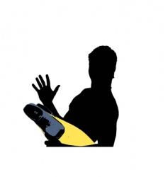 swimmer profile vector image
