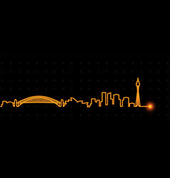 Sydney light streak skyline vector