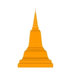 Temple in Thailand Traditional Thai Architecture vector