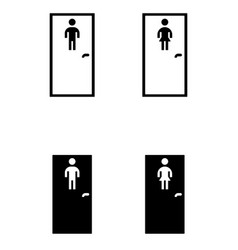 toilet doors for male and female genders vector image