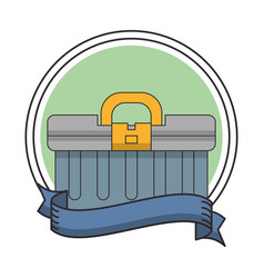 Toolbox round frame vector
