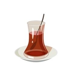 Turkish tea icon in cartoon style vector
