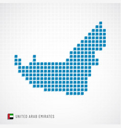 Uae map and flag icon vector
