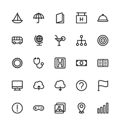 User interface colored line icons 9 vector