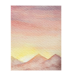 Watercolor background of landscape with vector
