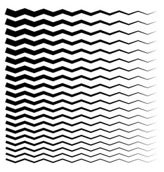 Wavy zigzag lines from thick to thin graphic vector