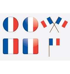 badges with flag of France vector image vector image