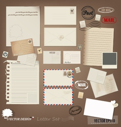 envelope card and paper vector image vector image