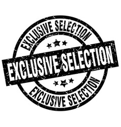 exclusive selection round grunge black stamp vector image