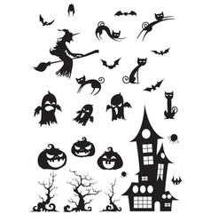 halloween blackwhite icon vector image