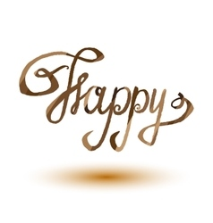 Happy lettering word EPS10 vector image vector image