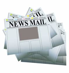 newspaper pile vector image vector image