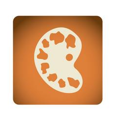 orange emblem artist palette icon vector image