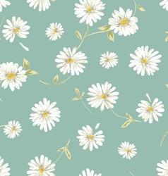 pretty daisy seamless background vector image