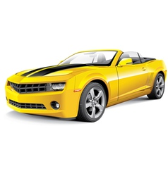 American muscle car convertible vector image vector image