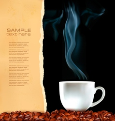 menu cup of coffee vector image
