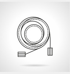 Microphone cable flat line icon vector