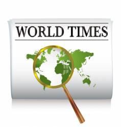 newspaper world vector image