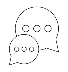 Bubble talk dialog chatting social media outline vector